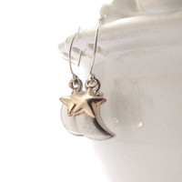 Moon Stars Earrings by GirlBurkeStudios on Etsy