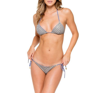 Luli Fama  Desert Babe Triangle Top- Blue Moon