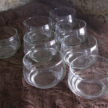 Petite Glasses Great Votive Holders, Custards, Cocktails Simple Yet Elegant Accent to the Christmas Table, Clear Glassware Set of 8