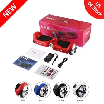 Smart Bluetooth Two Wheels Self Balancing Electric Scooter UL2272 Certified Gyro Skateboard led