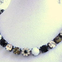 swarovski crystal choker-black and white-better than sabika-chic