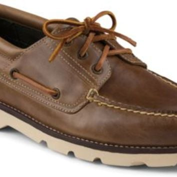 Sperry Top-Sider Bushwick 3-Eye Boat Shoe Tan, Size 10.5M  Men's Shoes