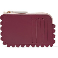 Diane von Furstenberg - Scalloped two-tone leather cardholder