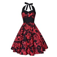 Roses Dress Gothic Dress Party Dress Festival Dress Pin Up