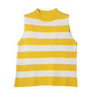 Striped Sleeveless Pullover (Yellow) | STYLENANDA