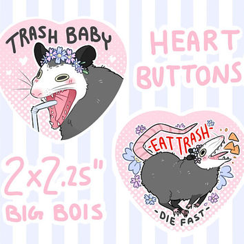 Possum Heart Buttons