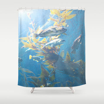 Fishes of the deep sea Shower Curtain by MJB photo design