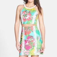 Women's Lilly Pulitzer 'Vanna' Applique Cotton Two-Piece Dress