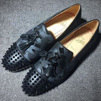 DCCK Cl Christian Louboutin Loafer Style #2412 Sneakers Fashion Shoes