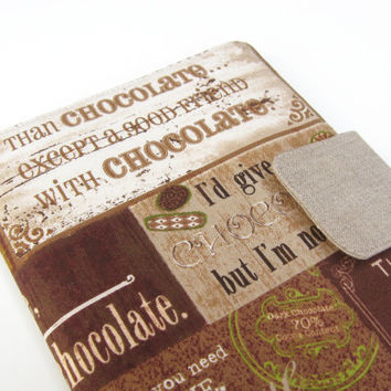 Kindle Cover Kindle Fire Cover Nook Simple Touch Cover iPad Mini Cover Kobo Cover Case Chocolate Linen eReader
