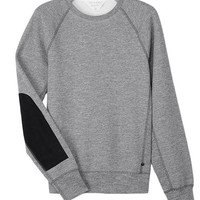 Rag & Bone - Suede Patch Sweatshirt, Grey