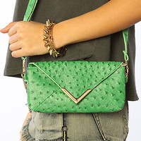 *Accessories Boutique Clutch Lucky Lizard in Green