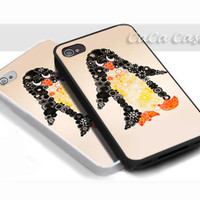 Spirograph Penguin - Print on hardplastic for iPhone 4/4s and 5 case, Samsung Galaxy S3/S4 case.