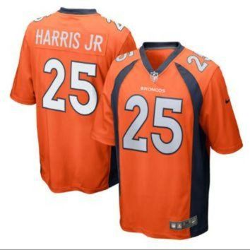 ICIKU3N Men's Denver Broncos #25 Chris Harris Jr Orange Stitched Nike NFL Home Elite Jersey