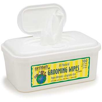 Earthbath All Natural Hypo-Allergenic and Fragrance Free Grooming Wipes