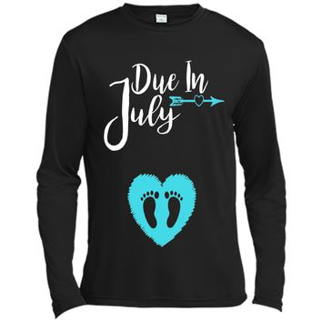 Due In July Cute Baby Boy Maternity Announcement Shirt