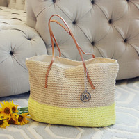 Arizona Dipped Tote in Yellow