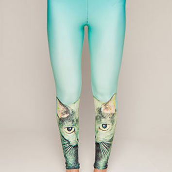 Cat Stare Leggings, Drop Dead Clothing