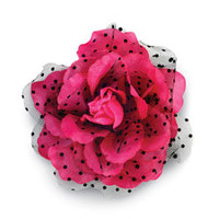 Over-Sized Hair Flower with Swiss Dots; Balera