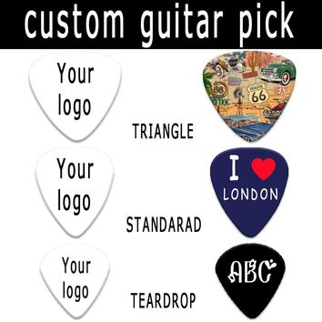 Real personalized customized guitar pick plectrum Can print yourself names and logo image