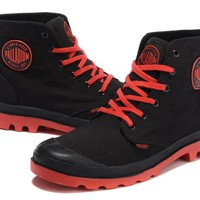Palladium Pampa Hi Originale Tx High Boots Black Red
