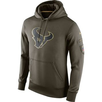Nike Men's Houston Texans Salute to Service KO Hoodie | Academy