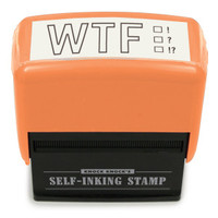Funny, Self-Inking WTF Stamp by Knock Knock - knockknockstuff.com