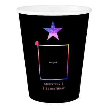 Stylish, Smart Star with Template Paper Cup