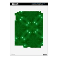 Star Pattern green Decals For iPad 3