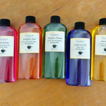 Harry Potter Bubble Bath Set - Butterbeer, Amortentia, Pumpkin Juice, Elixir of Life, Polyjuice Potion - 8 oz