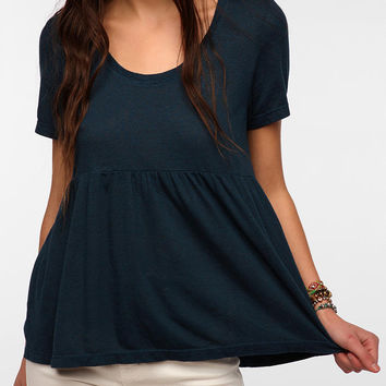 Urban Outfitters - Truly Madly Deeply Triblend Peplum Tee