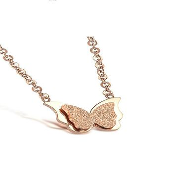 Butterfly Pendant Necklace Female Jewelry