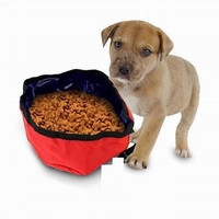 Portable Travel Pet Nylon Food and Water Dog Bowl Case Pack 48