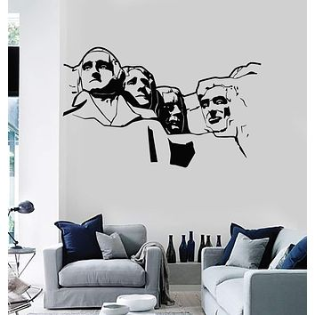 Wall Decal Mount Rushmore USA United States Decor Vinyl Stickers Unique Gift (ig2895)