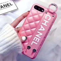 Perfect Chanel Leather Fashion iPhone Phone Cover Case For iphone 6 6s 6plus 6s-plus 7 7plus 8 8plus X