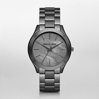 Michael Kors Grey Slim Runway Watch