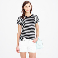 ROLLED-SLEEVE POCKET TEE IN STRIPE