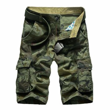 Camouflage Camo Cargo Shorts Mens Mens Casual Shorts Male Loose Work Shorts Man Short Pants Plus Size 29-44