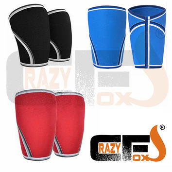 [A PAIR / 2 pieces] 7mm Custom compression 7mm neoprene knee sleeve / CROSSFIT WEIGHT LIFTING sleeve