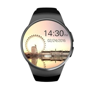 New smart watch phone KW18 MTK2502C 1.3 inch round screen IPS LCD 240X240 Bluetooth 4.0 Anti-lost alert  Remote camera