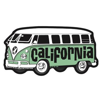 California Earth Bus Sticker