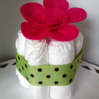 Mini Diaper Cakes, Baby Shower Decor, Diaper Cake Centerpiece, New Baby Gift
