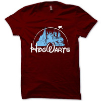 HARRY POTTER Shirt Hogwarts Alumni T-Shirt Black Maroon Unisex T-Shirt Tee S,M,L,XL #5