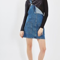 MOTO True Denim Pinafore Dress