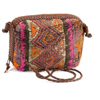 KILIM Leather Bag Boho Crossbody Bag Hippie Vintage Turkish Tapestry Purse