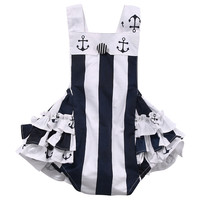 Newboorn Baby Girls clothes Striped baby Romper sleeveless Summer Jumpsuit Outfits baby clothing