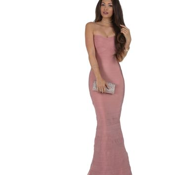 Marci Pink Mermaid Prom Dress