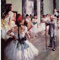 Edgar Degas The Dance Class Ballet Art Poster 11x17