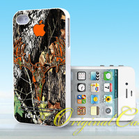Country Hunters and Camo Buck logo apple - Print on hardplastic for iPhone 4/4s and 5 case, Samsung Galaxy S3/S4 case.