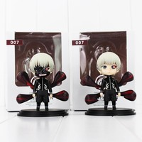 2pcs/lot Anime Tokyo Ghoul Figure Toy Q Version Kaneki Ken PVC Model Doll New Arrival Free Shipping